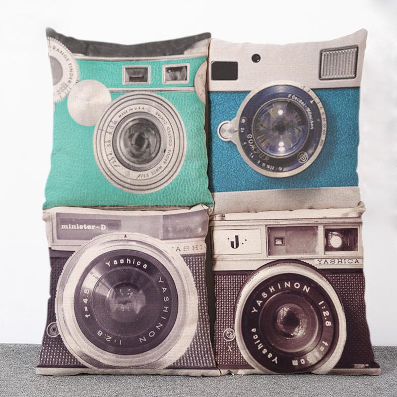 3d digital camera printed pillowcase art bedroom a living room cushion