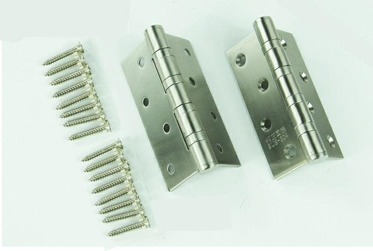 """4"""" 100% 304 Stainless Steel Door Hinge Four Bearings Silent Hinge Furniture Hinge Furniture Hardware Thickness 3mm Plus Screws(China (Mainland))"""
