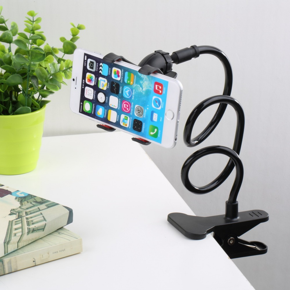 360 Rotating Flexible Long Arm cell phone holder stand lazy bed desktop tablet car selfie mount bracket for iphone 6,for samsung(China (Mainland))
