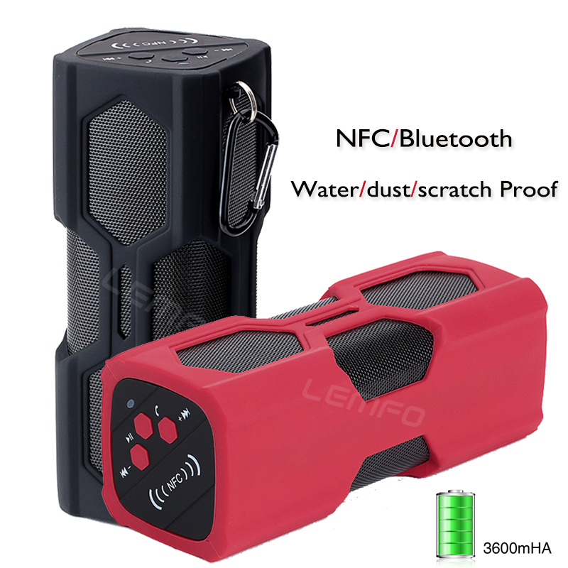Bluetooth Speaker 3600mAh Wireless Stereo Portable Handsfree Subwoofer NFC / AUX Mp3 Player Loudspeaker Water/Scratch/Dust Proof(China (Mainland))