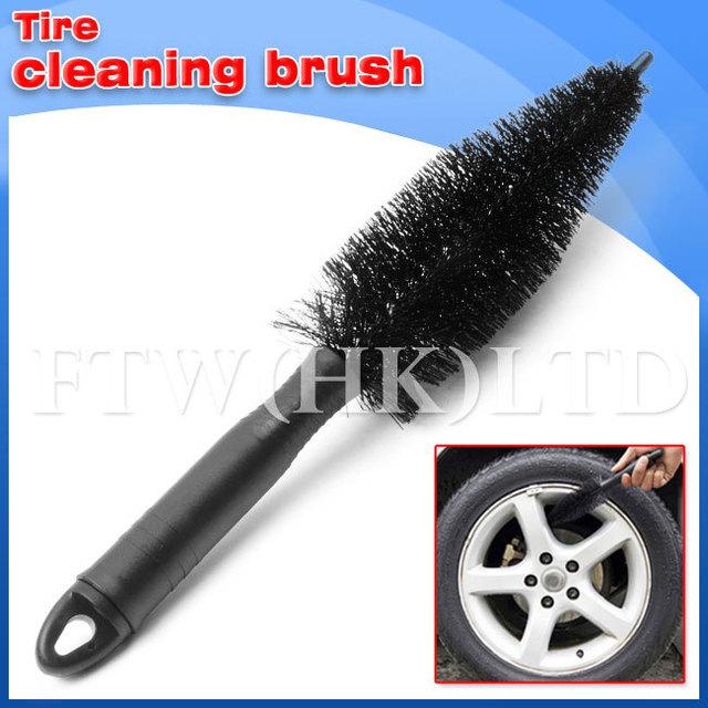NEW 10pcs/lot Auto Tire Cleaning Brush Car washing Tool PVC hair Free Shipping