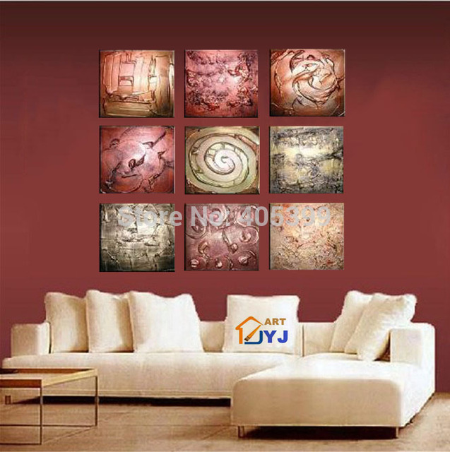 Thick Textured American Style Decoration Art Modern Abstract Canvas Oil Painting Gift From Artist Directly  ytth053