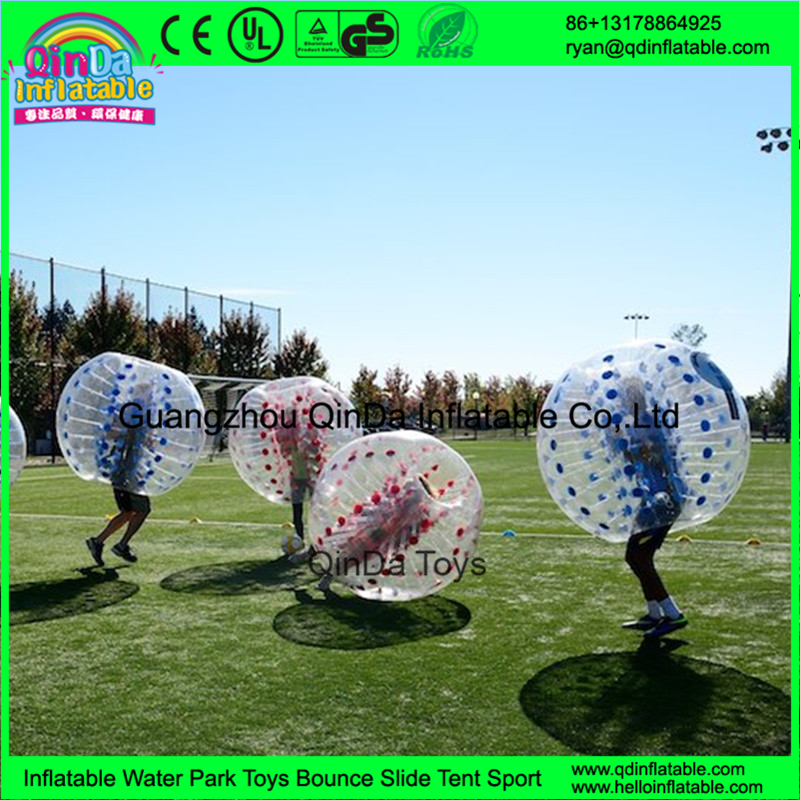 Super selling 1.0 mm PVC/TPU inflatable human bumper ball,bubble soccer suit,loopyball/bubble soccer(China (Mainland))