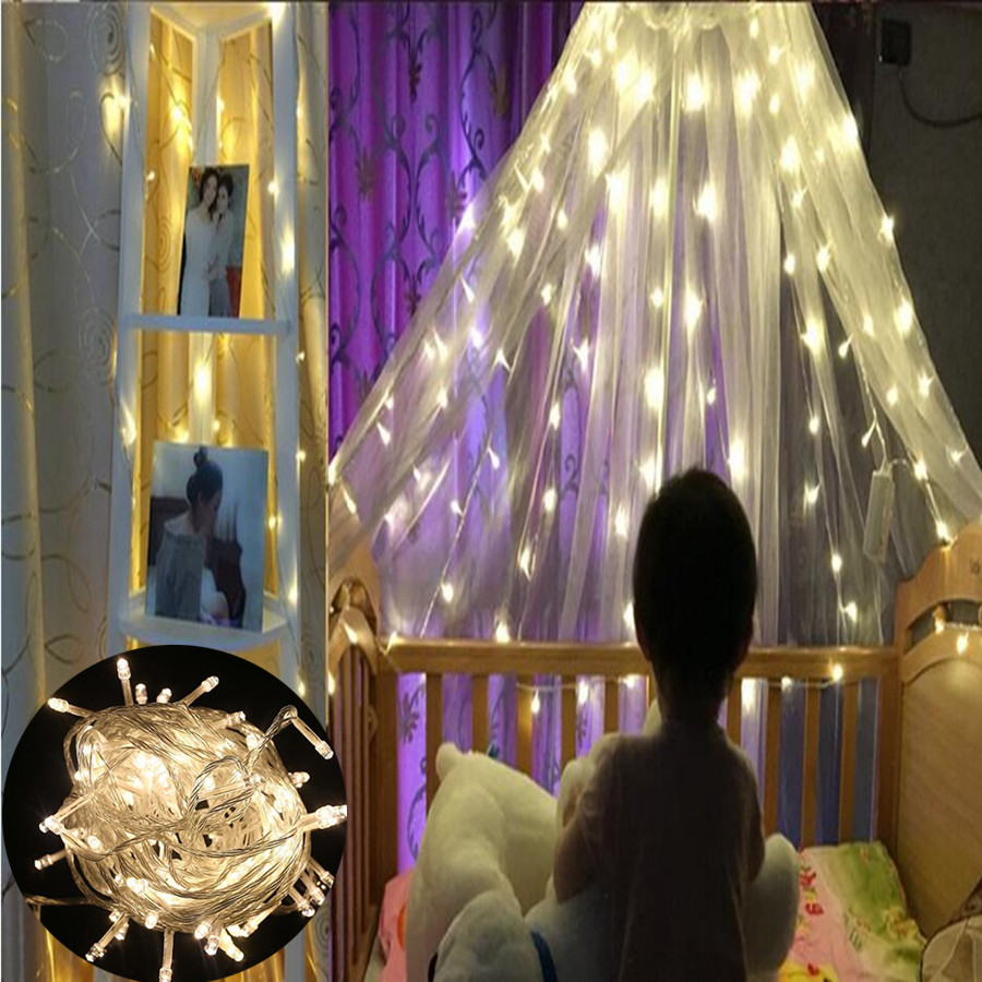 20M Waterproof 110V/220V 200 LED Holiday String Lights Christmas Festival Party Fairy Colorful Xmas - Shenzhen Selene Electronic Technology Co., Ltd. store