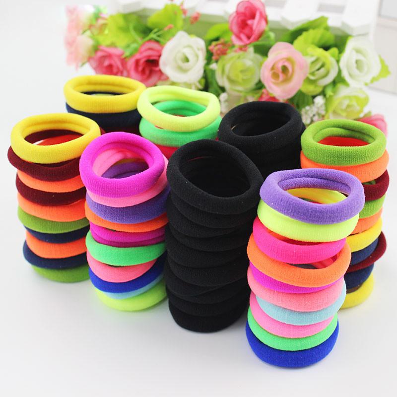 Hair Ties Rope 10 pcs Cute Girls Hair Accessories Rubber Band Hair Elastic Band Wholesale Free Shipping(China (Mainland))