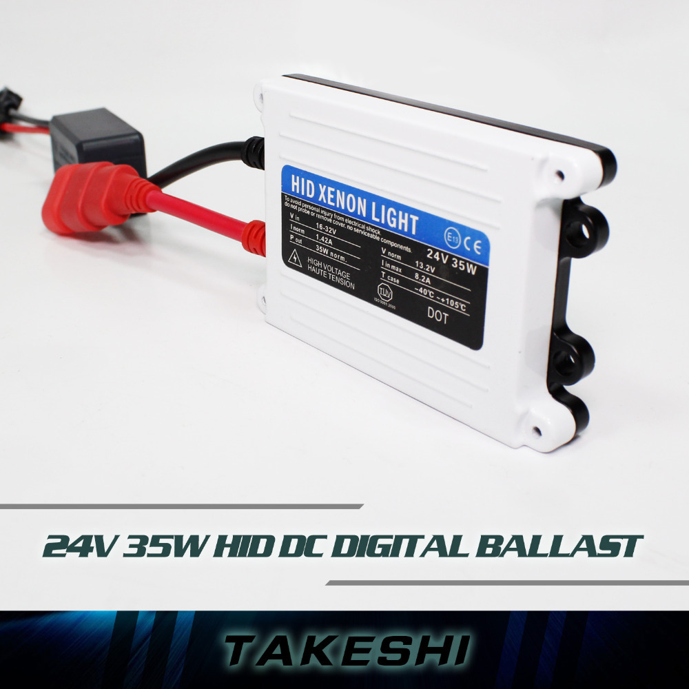 TOP Quality 2pcs 24V DC 35W hid ballast Good Quality HID xenon slim digital ballast car