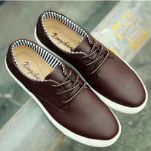 Brand Style Casual Low Top Men Flats Boots Fashion Solid Lace Up Genuine Leather Shoes Breathable Ankle Office Shoes Big Size