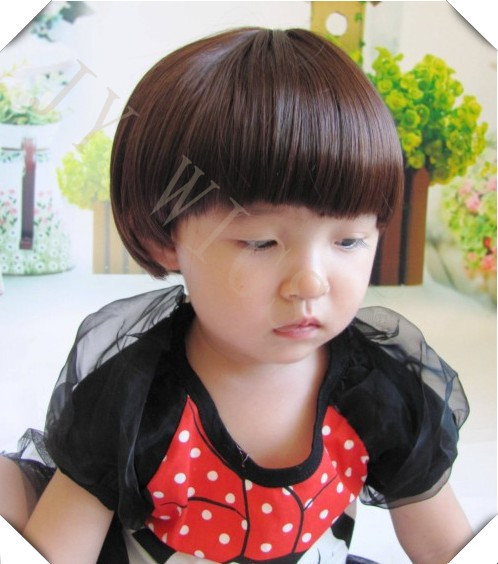 Anime Wig Children Short Straight Bob Wigs Bady Hair Kid's Peruca Perucas Anime Wig(China (Mainland))