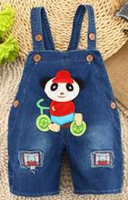 New 2015 Baby boys girls belt short pants Children summer jeans toursers kids Unisex animal belt jean fashion(China (Mainland))