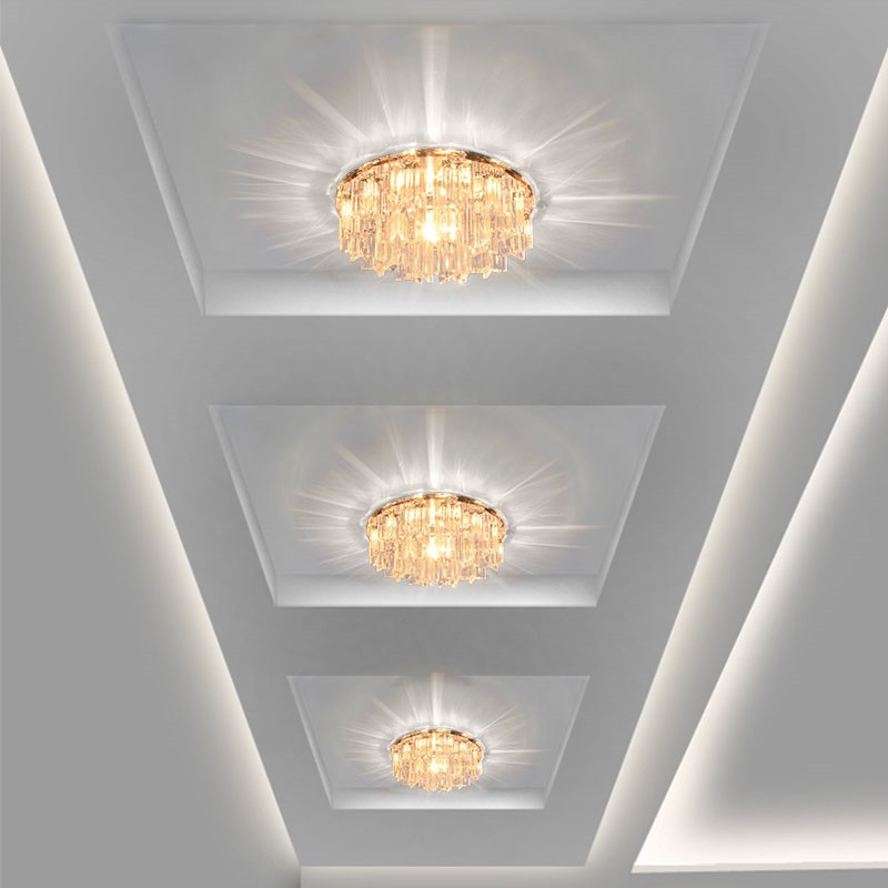 Modern Crystal LED Ceiling lights Fixture Indoor Lamp lamparas de techo 5W  LED Hallway Foyer Ceiling Lights Home Decor bd938d7dfd3