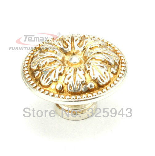 10pcs European Single Hole Antique Furniture Hardware Vintage Kitchen Cabinets Dresser Drawer Handles