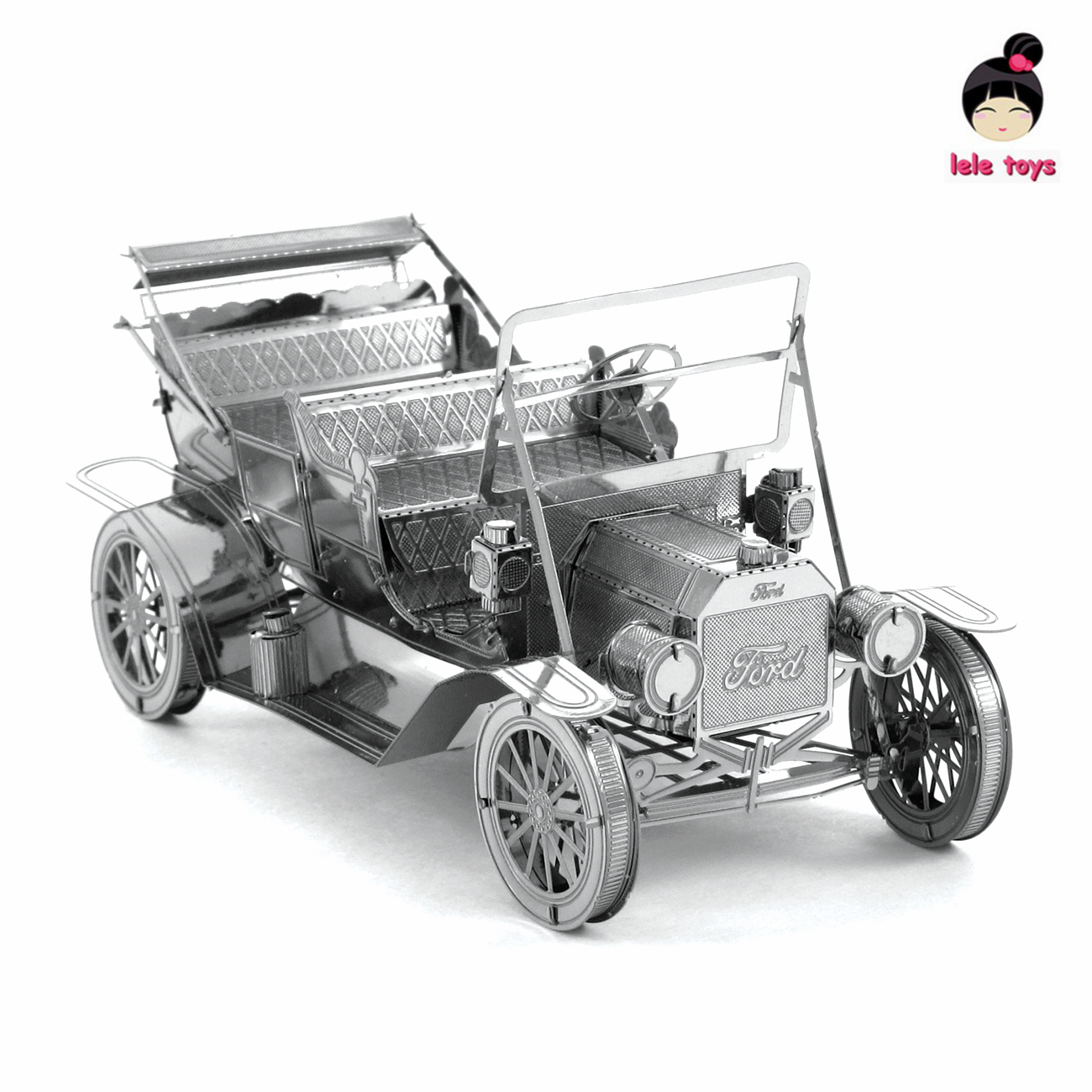 VEHICLES 3D Metal Model Puzzles 1908 FORD MODEL T Chinese Metal Earth Stainless Steel Creative Gifts ICONX(China (Mainland))