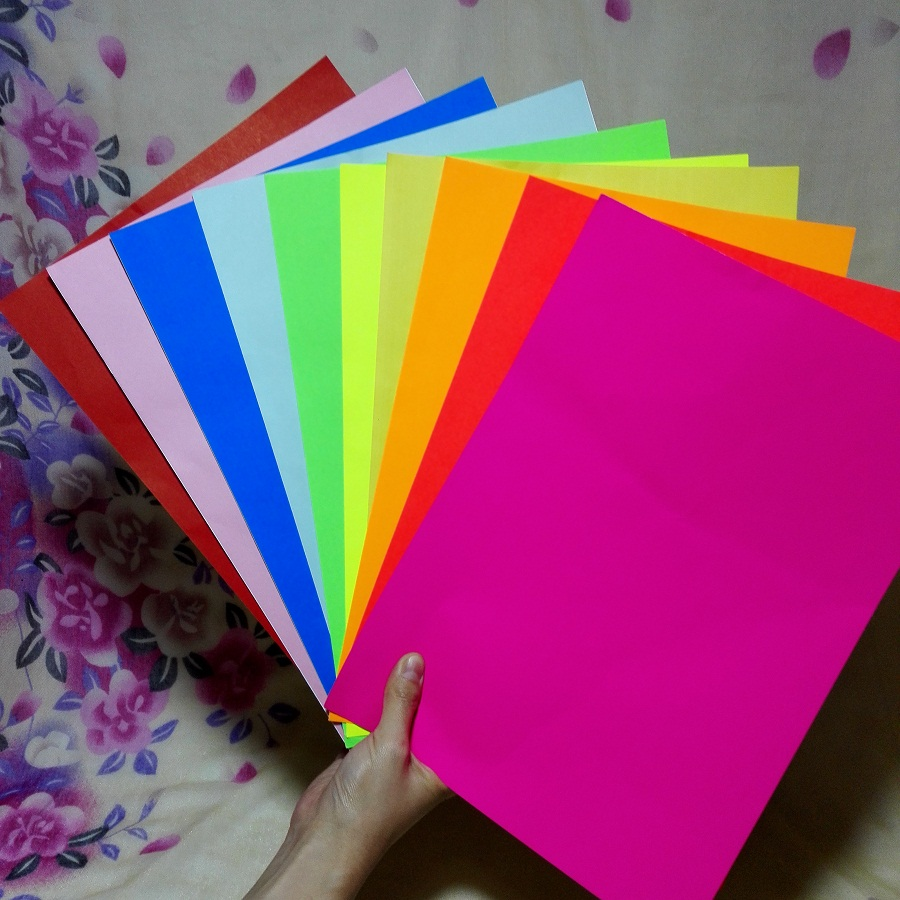 a4 multicolour self adhesive sticker paper 10 piece a lot embossed device scrapbook paper color paper