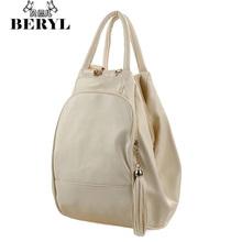 Tassel Women s Backpacks Casual Leather Ladies Backpack Travel Backpack For Woman Vintage Female Shoulder Bag