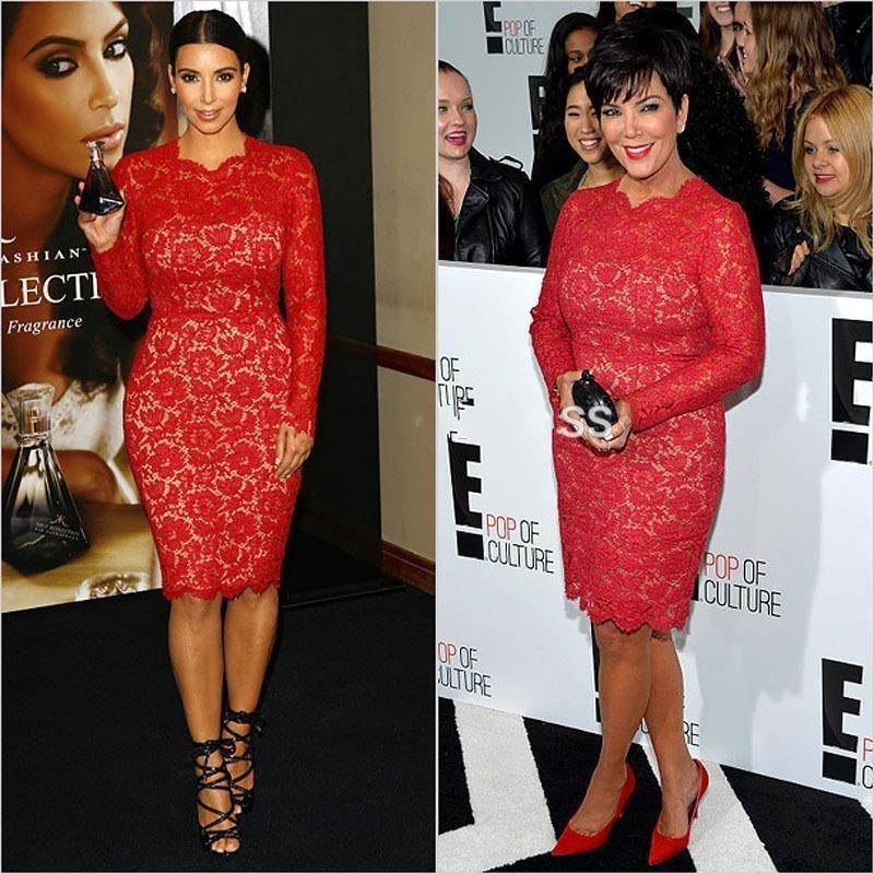 red carpet celebrity dress kim kardashian knee length