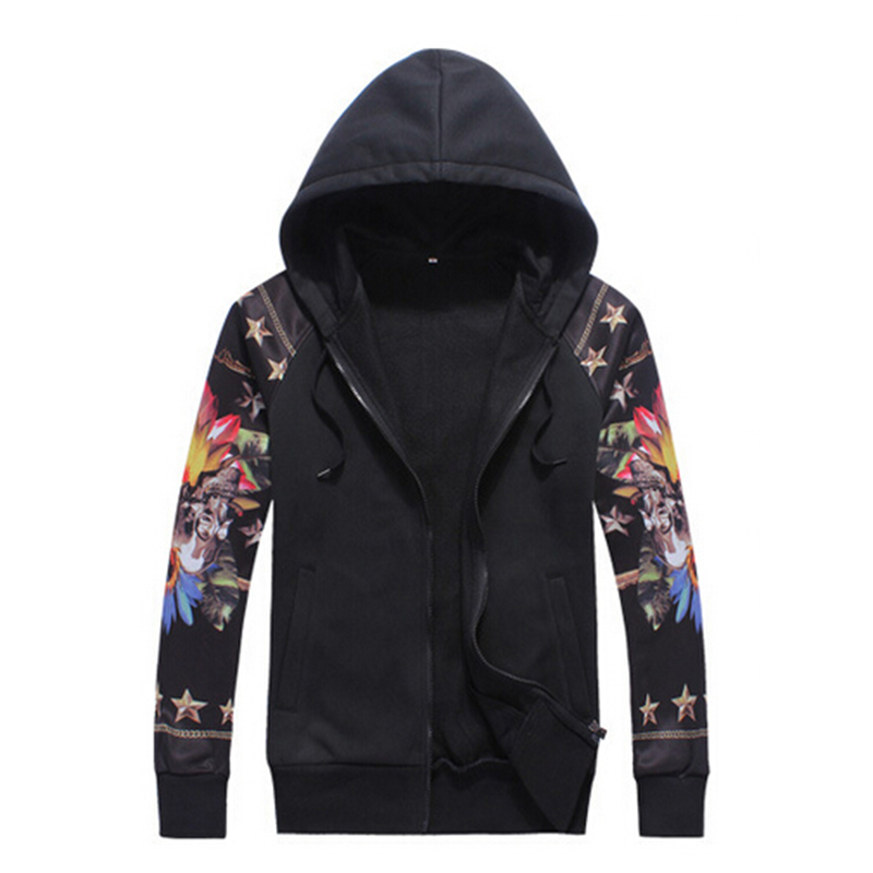 Fashion men hoody casual mens brand High quality print hoodie jackets mens hoody sportswear hip hop khop sports suit tracksuit(China (Mainland))