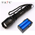 6000LM Flashlight CREE XM L T6 LED Zoomable Focus Flashlight Torch Light 2x18650 Battery US EU