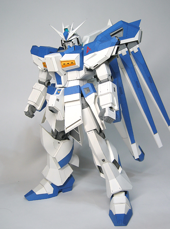 Paper Toys New Fun Cute Puzzle Gundam June HIV RX-93 3D stereo paper model /DIY toys- 38cm High! Bigger MG - Athongger store
