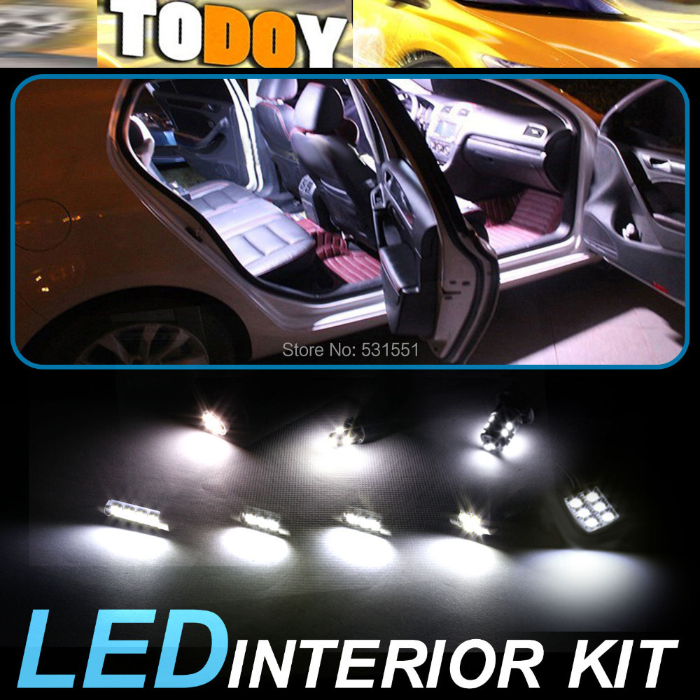 White LED lights interior package kit FJ Cruiser 2007-2013 Car Styling Light Sourcing Accessories &120 - TODOY store