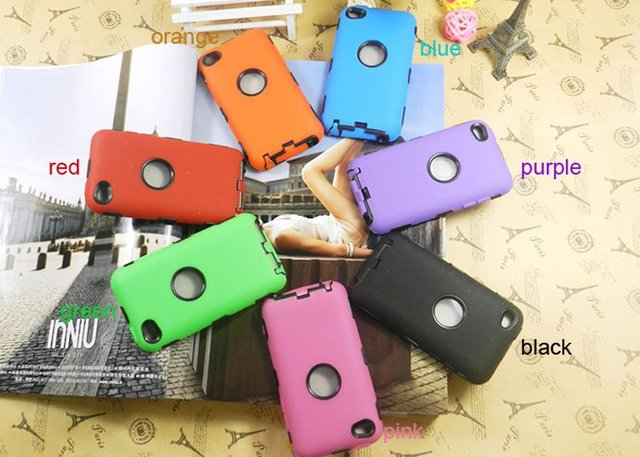 Whosale New Fashion Colorful Silicon Cover Case For Ipod Touch 4 4G 4th 30Pcs/Lot + Free Shipping