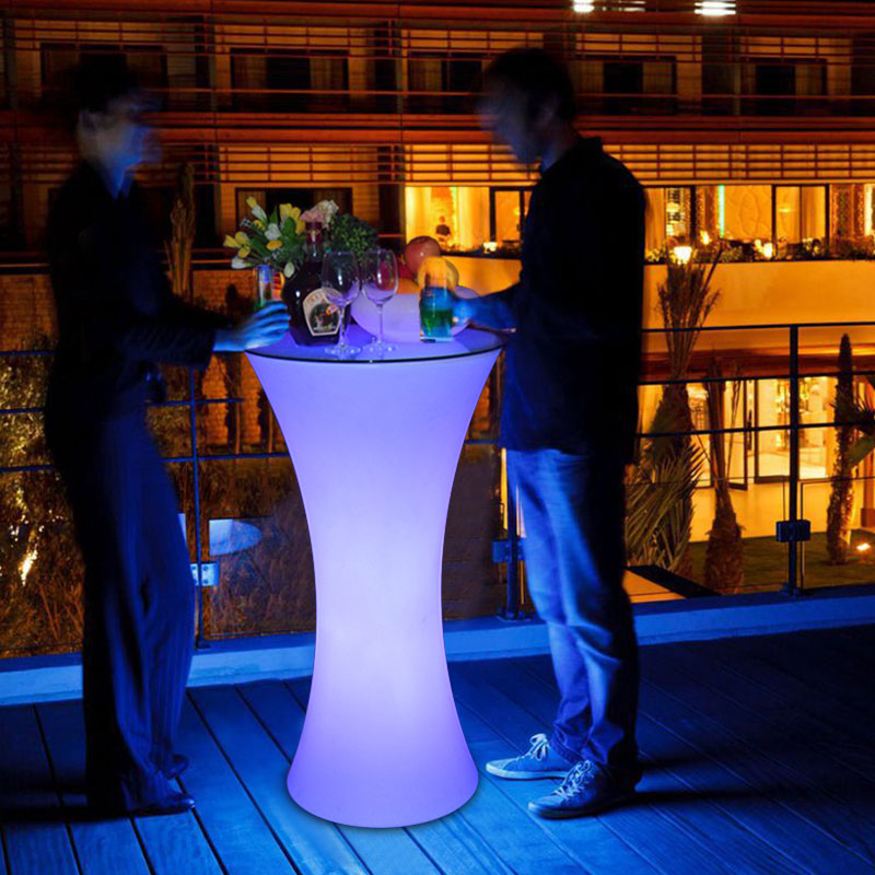 Jiuzhuo color light emitting chair barstool entertainment luminous coffee table bar furniture booth(China (Mainland))