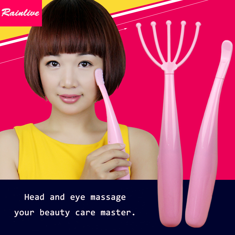 Head eye massager Electric head massage instrument Eye massage stick Vibration massage women's beauty care master(China (Mainland))