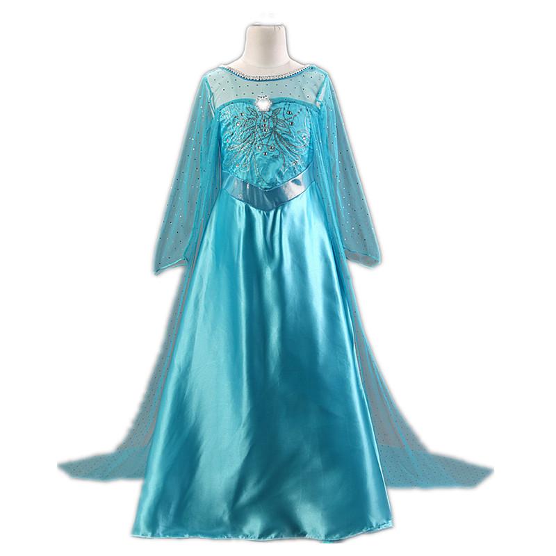 Гаджет  Elsa Dress Snow Queen Girls Party Dress robe fille 2015 Summer Dress for Girl princess costume robe enfant Long Kids Dresses  None Детские товары