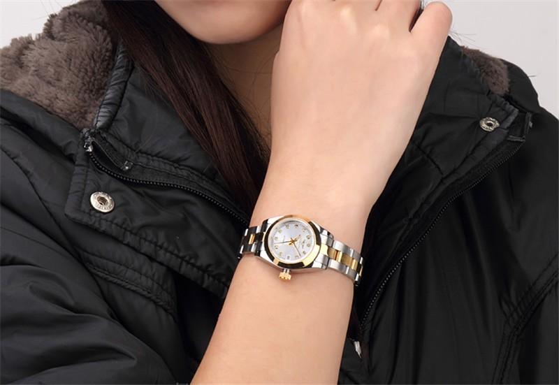 Relogio Feminino Часы Мода Люкс GUANQIN Платье Бриллиантовый Браслет Женские Часы Женские Часы Моды Случайные Женщины Наручные Часы