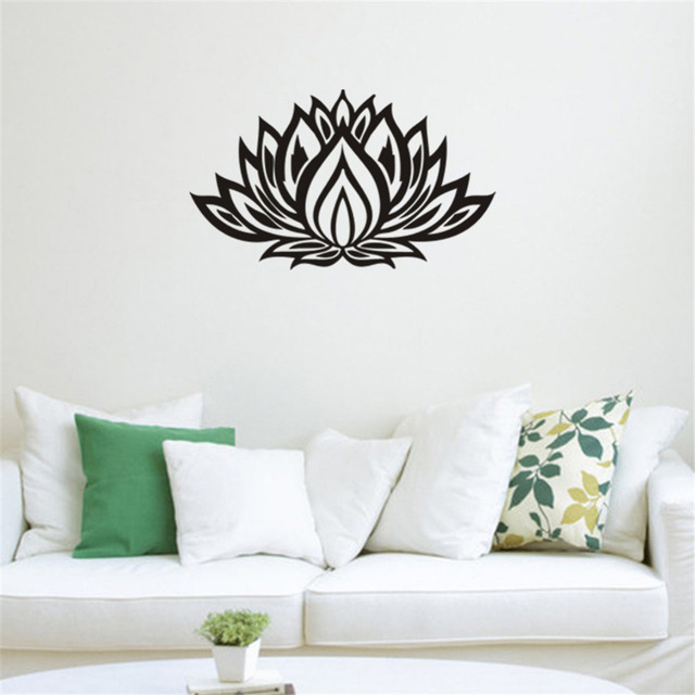 art design indian namaste words religion wall decal vinyl lotus yoga sticker buddha ganesha home decoration