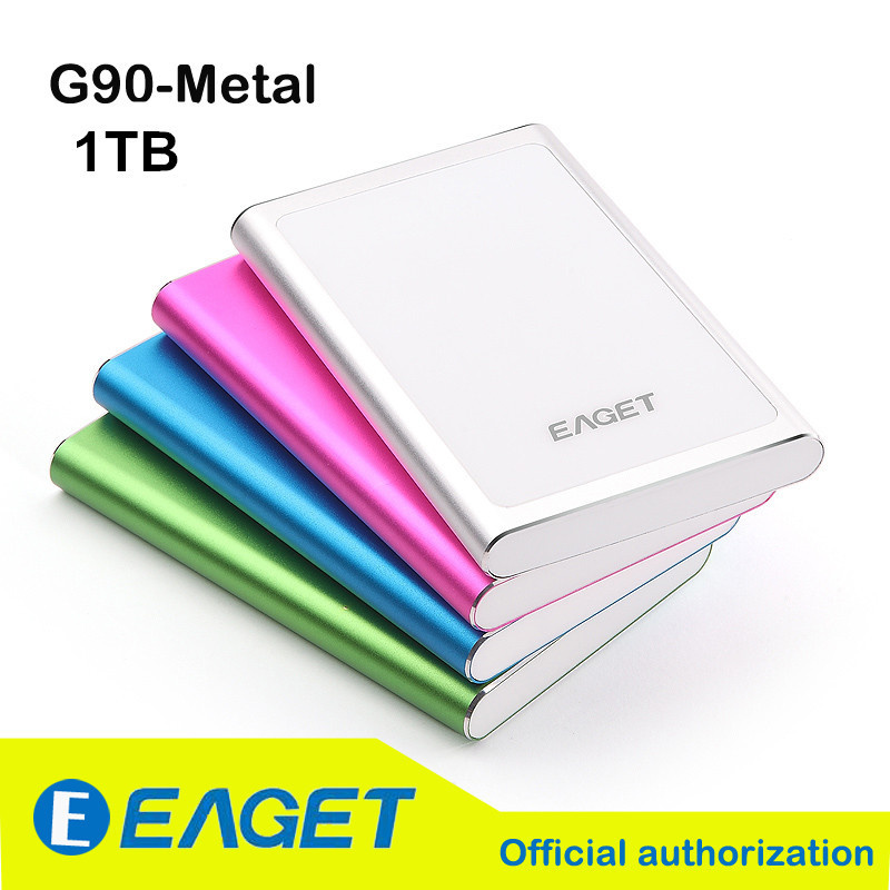 100% Original EAGET G90 1T USB 3.0 High-Speed Ultra-thin Extreme Fashion Full Metal Encryption External Hard Disks Drives HDD(China (Mainland))