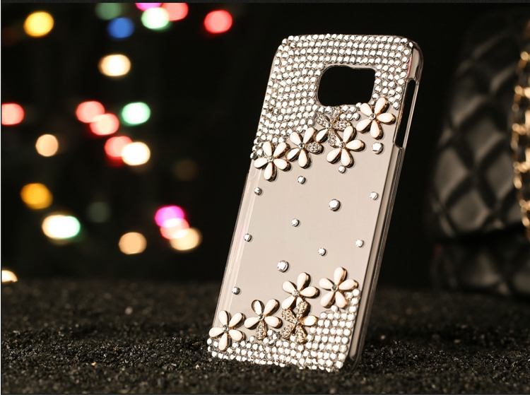 Arrival! PVC Luxury Bling Rhinestone accessories Pure manual Flower Cover Case bags for xiaomi hong mi