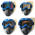 EE support personality retro half helmet face mask motocross goggle motorcycle helmet goggles XY01