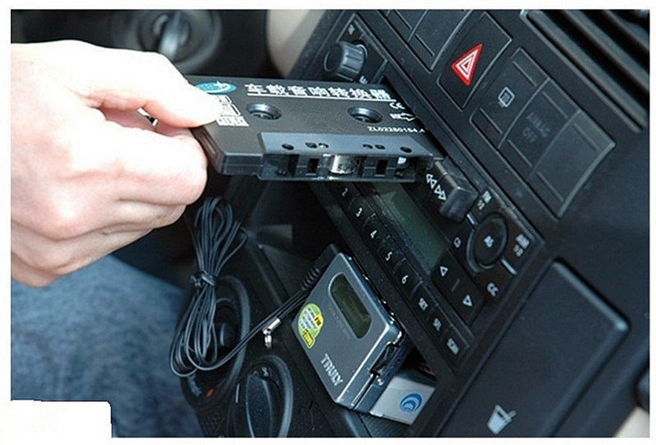 New Audio Car Cassette Tape Adapter Converter 3.5 MM for iPod Video/Nano/MP3/CD/MD Audio Car Cassette Tape Player Adapter(China (Mainland))