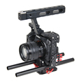 15mm Rod Rig DSLR Camera Video Stabilizer Cage Kit w Top Handle Grip for Sony A7