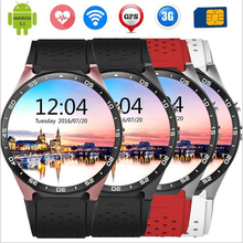 Buy stock Kingwear KW88 android 5.1 Smart watch 1.39 inch 400*400 SmartWatch phone 3G wifi 2.0MP Camera Heart Rate pk gear s2 for $119.90 in AliExpress store