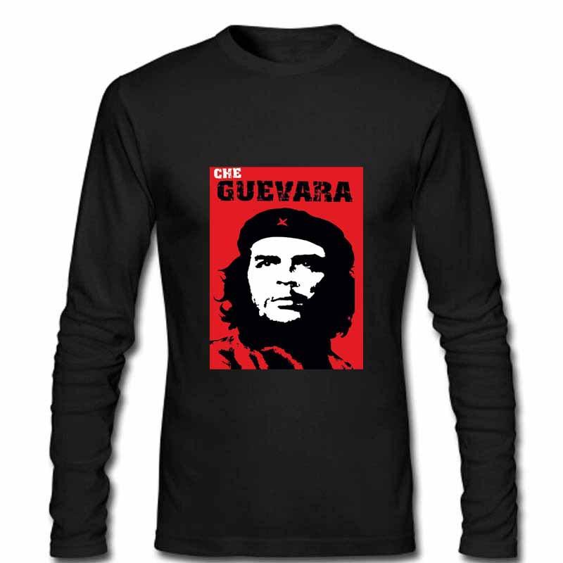Goodquality custom men39s clothing men long sleeve t shirt for Che guevara t shirts