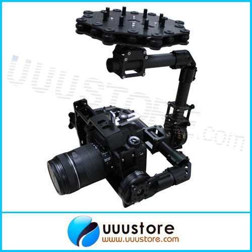 DYS BLG5D FPV 3 axis Eagle Eye Camera Mount  Brushless Aerial PTZ Gimbal with Motor and Controller RTF for DSLR Camera