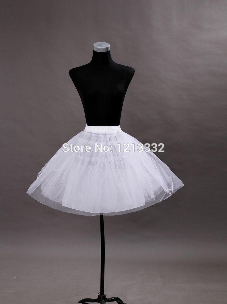 Free Shipping White Tulle Short Wedding Petticoat Pettiskirt Slip Underskirt Underdress