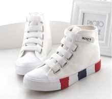New female canvas shoes sneakers high layer platform Harajuku shoes preppy cotton made casual punk rock