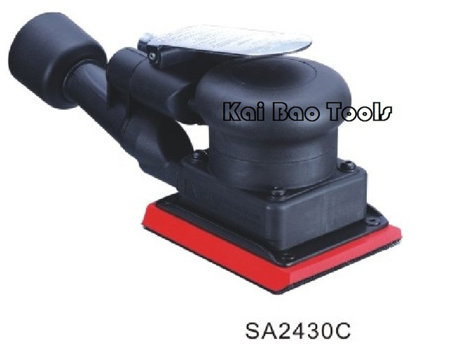 Square Air Orbital Sander Shaking Polisher Jitterbug Sander with CENTRAL VACUUM System Environmental ORBIT 3mm (SA2430C)