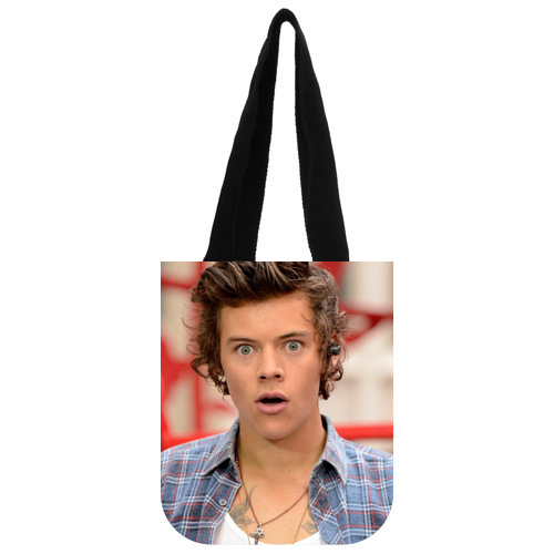 Nice Designed Canvas Tote Bag Customized Music Band One Direction Harry Styles Tote Bag 03(China (Mainland))