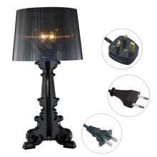 Modern Baroque Ghost Shadow Table Lamps Fashion Bedroom Bedside Lamp Transparent Acrylic Material E14 Holder Reading Desk Lights(China (Mainland))