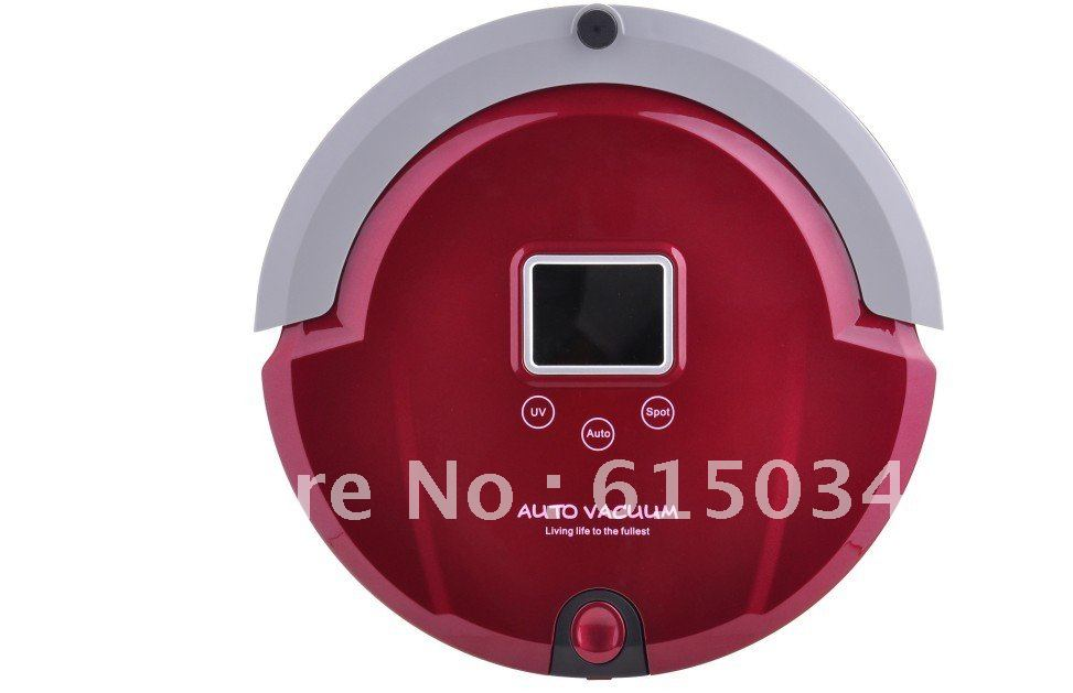 4 In1 Multifunctional Robot Vacuum Cleaner, LCD Screen,Touch Button,Schedule,Virtual Wall,,Lowest Noise ,Long Working Time(China (Mainland))