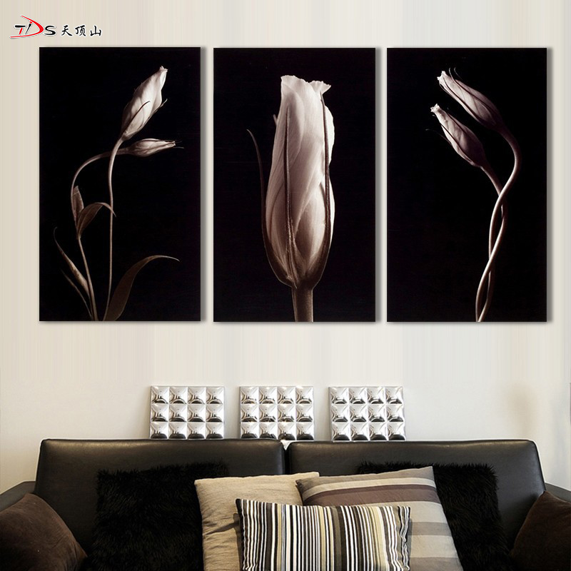 3 Panels Water Lilies Flower Oil Printed Painting On Canvas Home Wall Decor Art Pictures