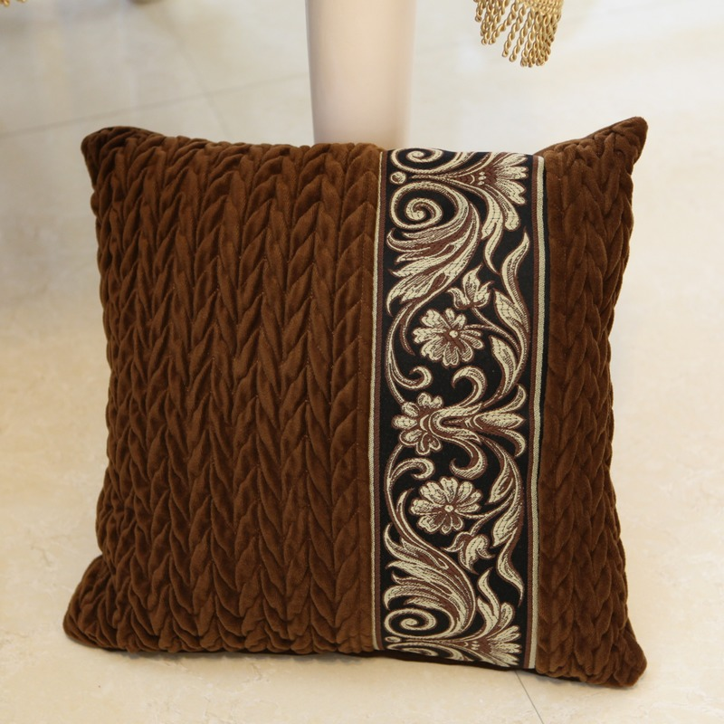 Luxury classical fashion embroidered ofhead cushion sofa pillow kaozhen circled quality Large
