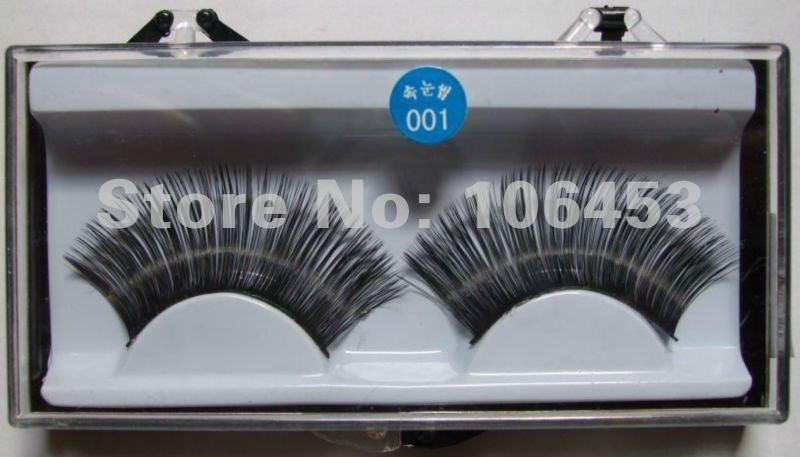 Hard Box False Eyelashes Strong Eyelash Perm Fashion Individual Fake Lashes Extensions 001# 150Box/Lot Free Shipping(China (Mainland))