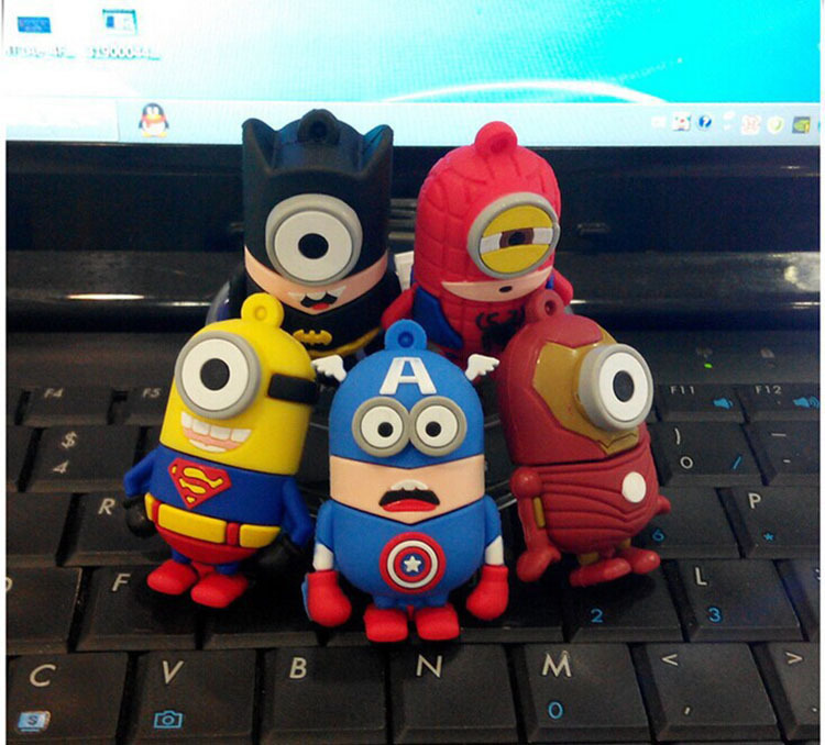 promotion Best Gift superhero avenger pendrive Usb 2.0 Robot Usb flash drive 4GB 8GB 16GB 32GB cartoon pen drive free shipping(China (Mainland))