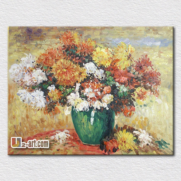 Fresh canvas flowers oil painting modern art decoration wall hangings gift for friends high quality reproduction(China (Mainland))