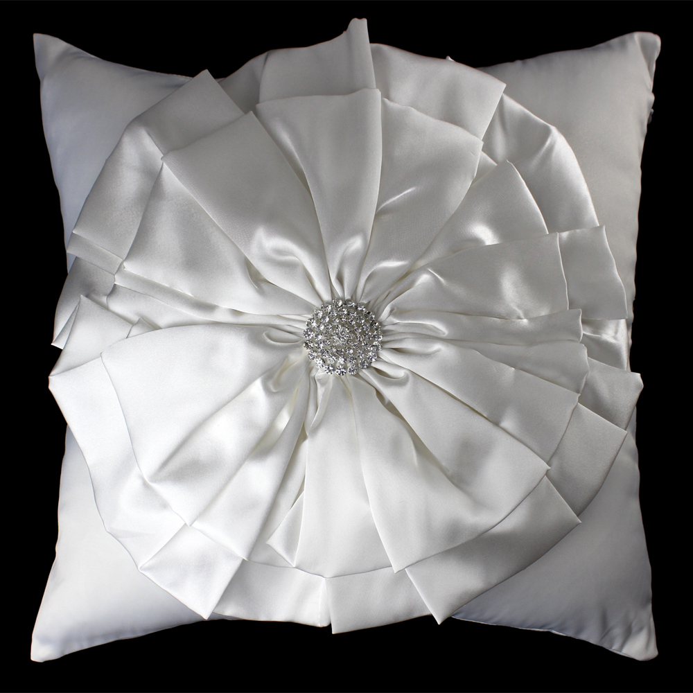 3d White Big Flower Diamond Luxury Hot Cushion Coverpillowcase