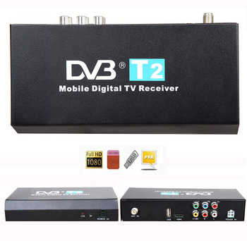 Top Quality ! Car DVB-T T2 Receiver MPEG-2 / MPEG-4 External Auto Digital TV Box Support 40km/h HK Post Free shipping Fast